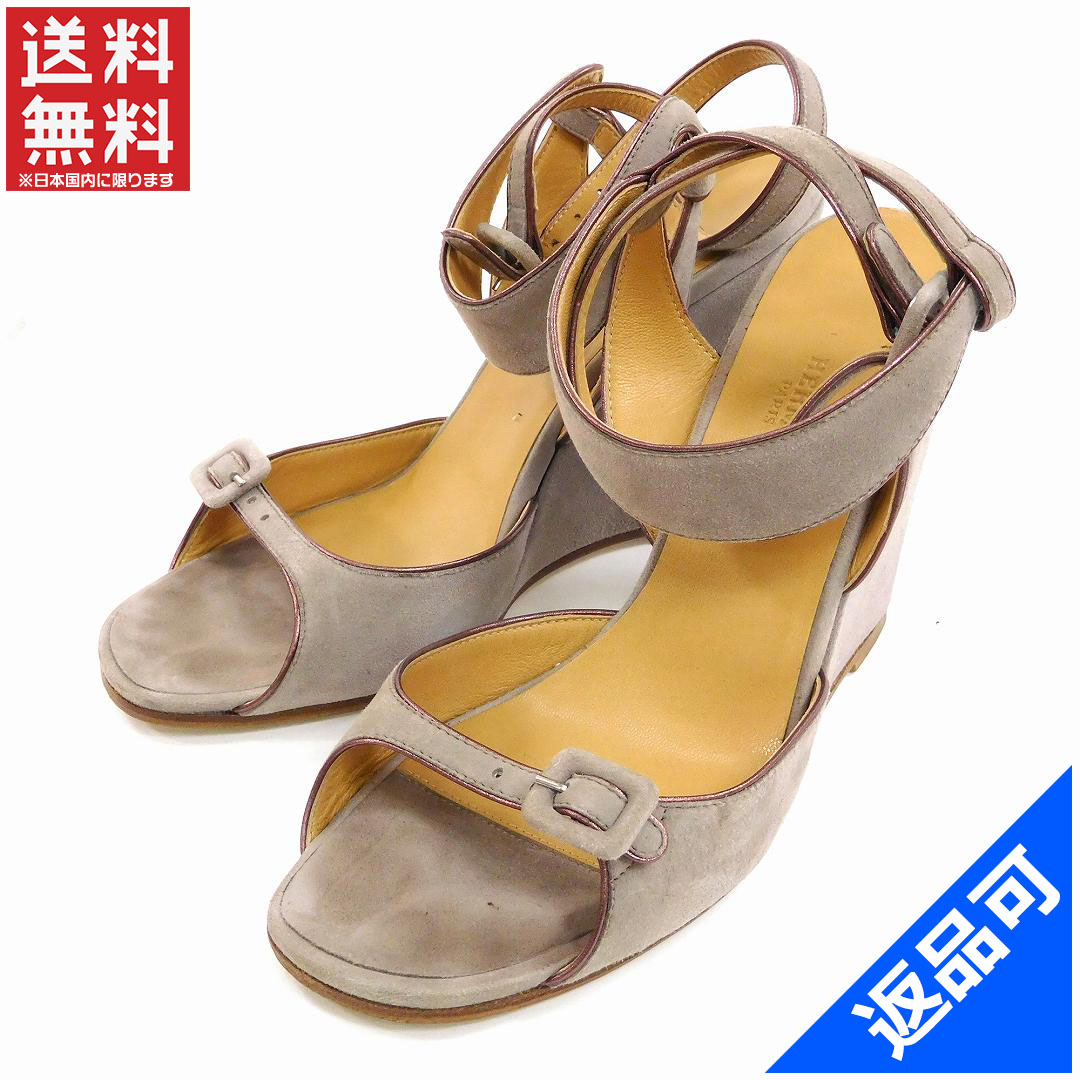 2f895e5dc6807 Hermes HERMES Sandals Women s suede   leather with beauty goods delivery  x9597