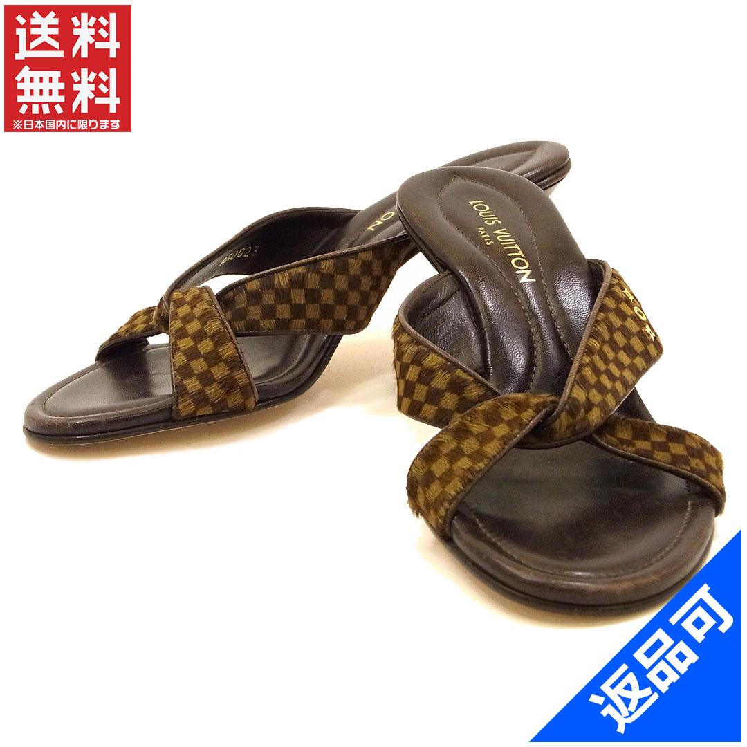0646c6bb1e8ad3 Designer Goods BRANDS  Louis Vuitton LOUIS VUITTON Sandals shoes shoes  Womens Huracan Damier Brown haraco × leather (for) good stock X9611