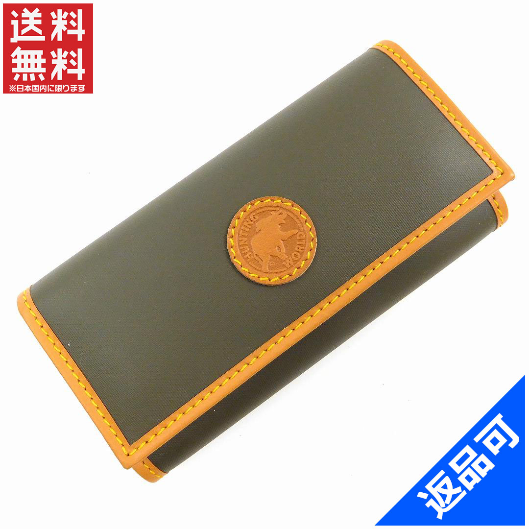1559535e5dcec Designer Goods BRANDS  HUNTING WORLD hunting world key case logo 4-key case  men-friendly super beauty products (less used) X9627