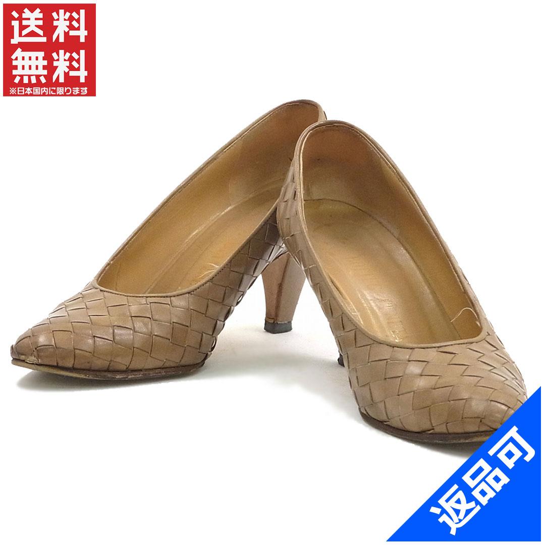 ボッテガ・ヴェネタ 靴 レディース パンプス BOTTEGA VENETA イントレチャート シューズ 靴 人気 即納 【中古】 X9656