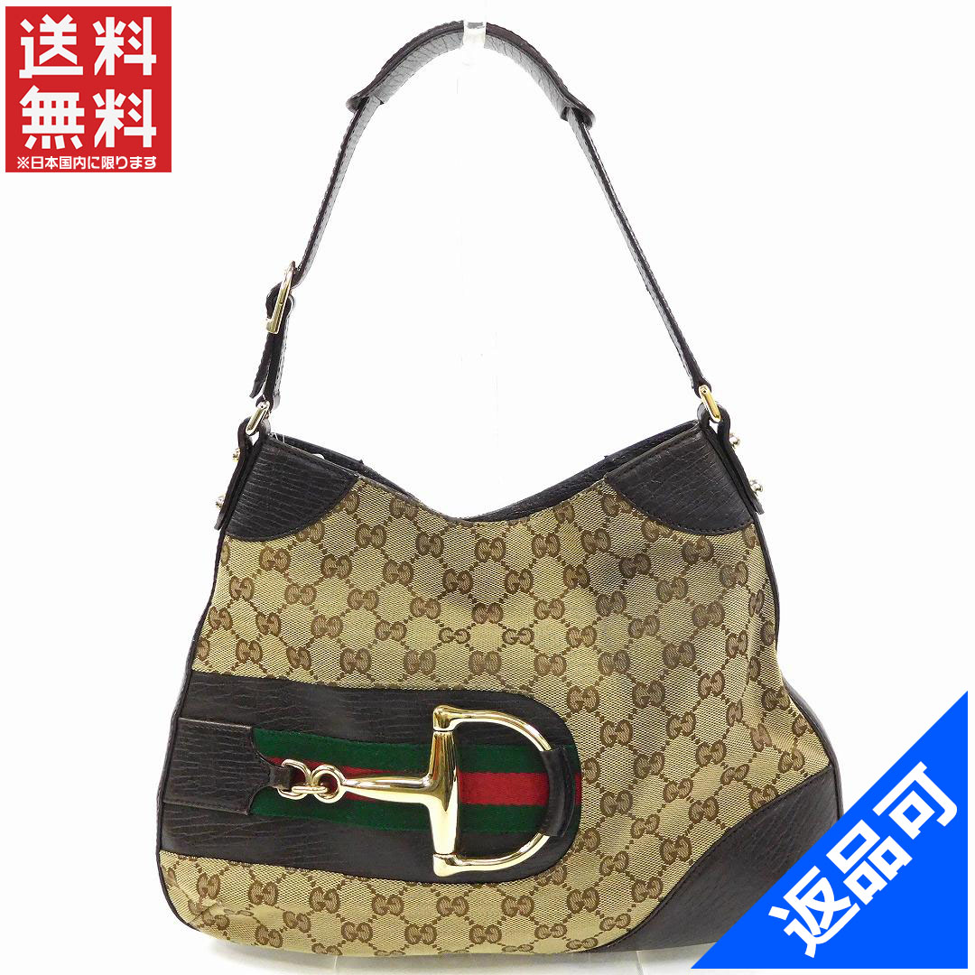 5561fb22 GUCCI Gucci bags 137388 gold bracket Shelly line shoulder bag GG canvas  popular stock X10081 ...