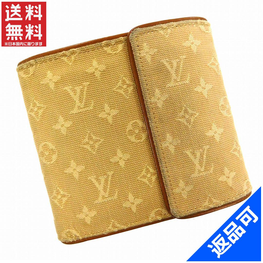 e65d4f2b4a77 ルイヴィトン 財布 レディース (メンズ可) 二つ折り財布 LOUIS VUITTON M92441 モノグラムミニ