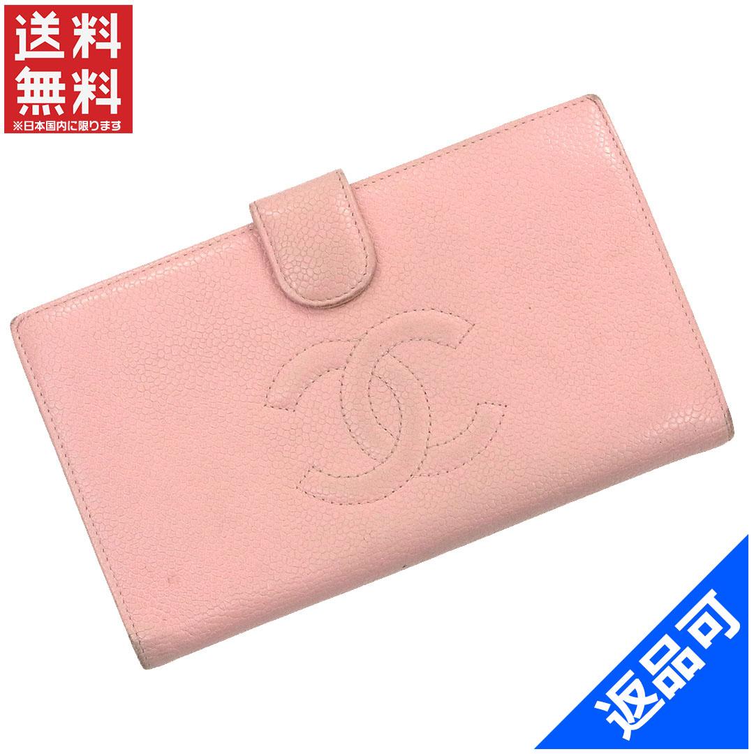 CHANEL Chanel wallet caviar skin 9-台長 wallet Coco mark coin purse wallet  people care delivery [05P03Dec16] X9865