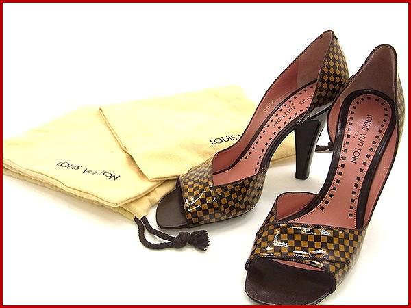 819f6c30ebc7 LOUIS VUITTON Louis Vuitton shoes peep toe pumps Damier shoes shoes women s  beauty products prompt delivery (less used) X9961