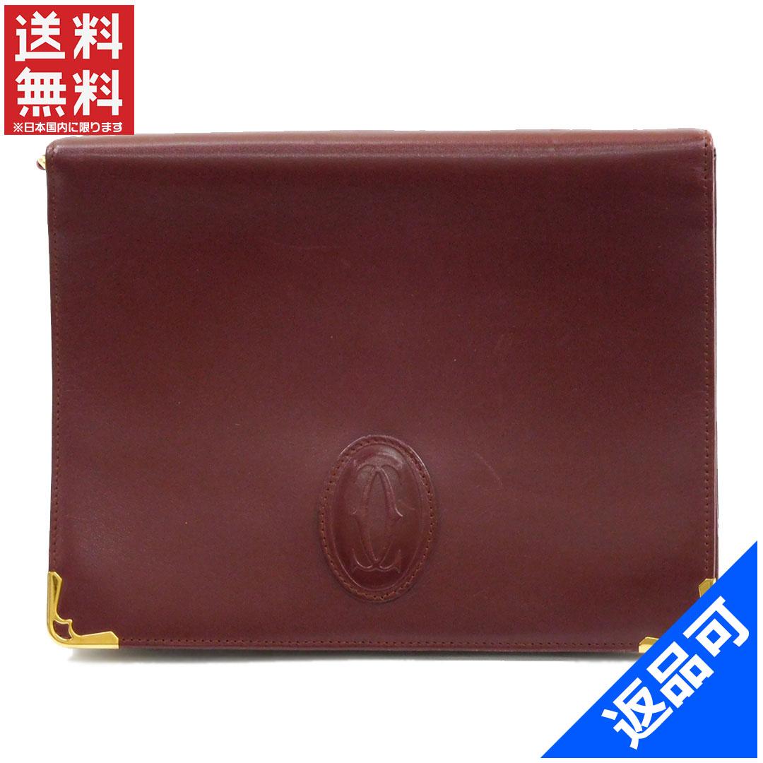 カルティエ バッグ レディース (メンズ可) セカンドバッグ Cartier マストライン ポーチ 人気 即納 【中古】 X11236