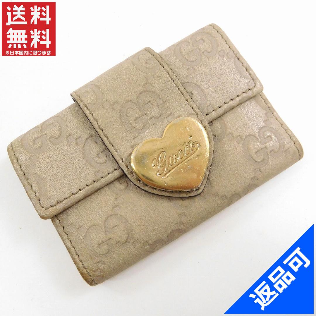 buy popular 2430a 8ac73 グッチ X11361 【中古】 即納 人気 6連キーケース グッチシマ ...