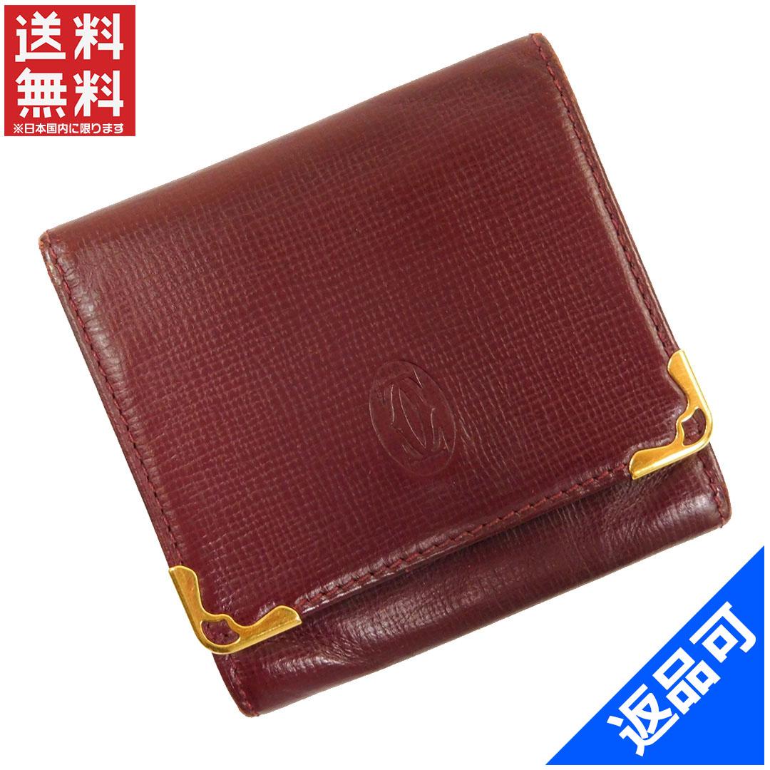 [閉店セール]カルティエ Cartier 財布 コインケース 小銭入れ マストライン 中古 X11436