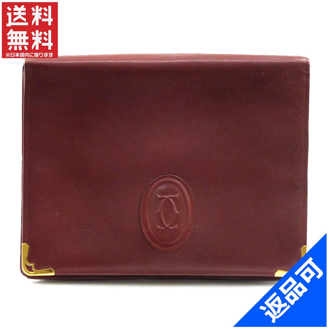 カルティエ バッグ レディース (メンズ可) セカンドバッグ Cartier マストライン ポーチ 即納 【中古】 X11796
