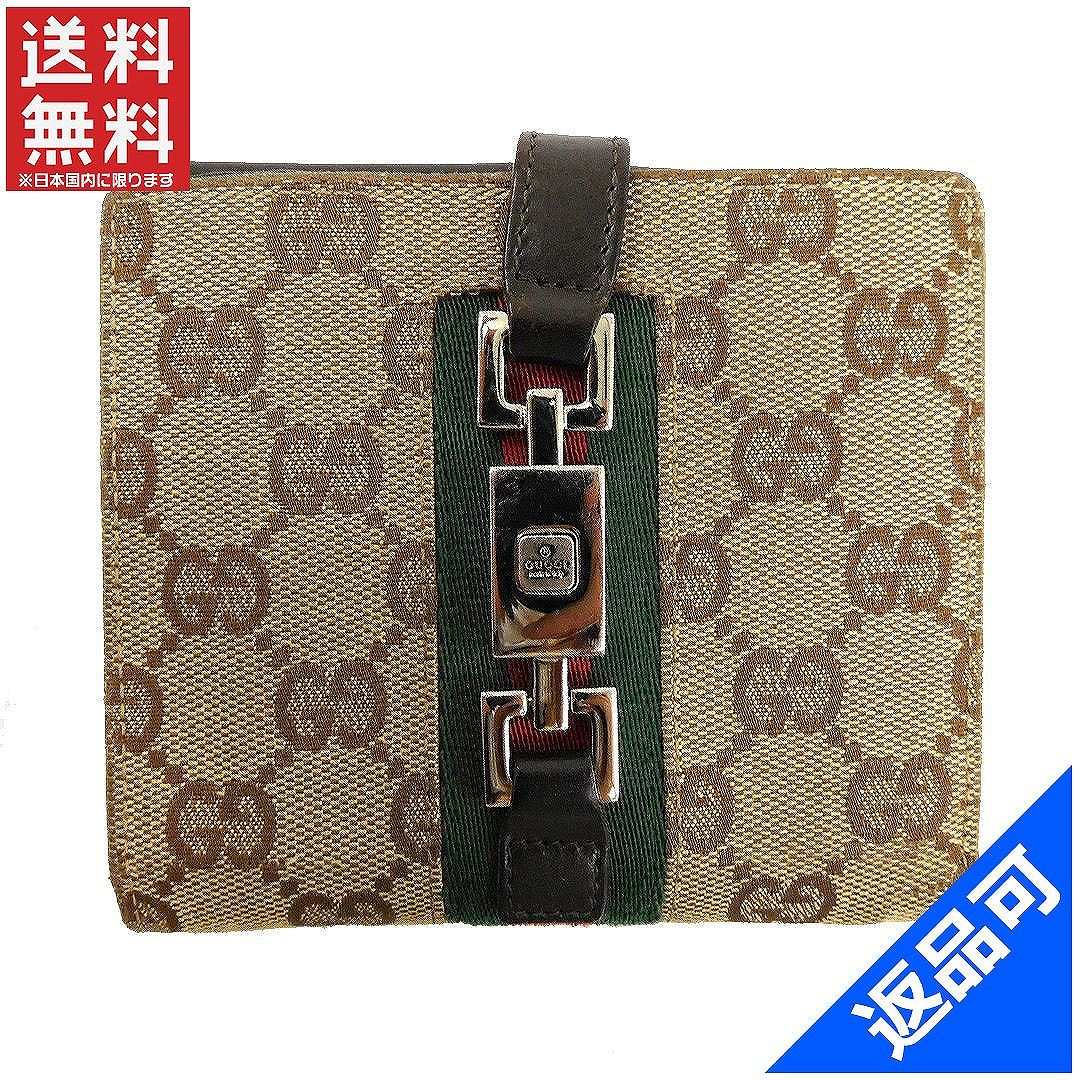 bd144c8c8120 GUCCI Gucci wallet 05474 Shelley line Jackie two fold wallet GG canvas W  hook wallet mens ...