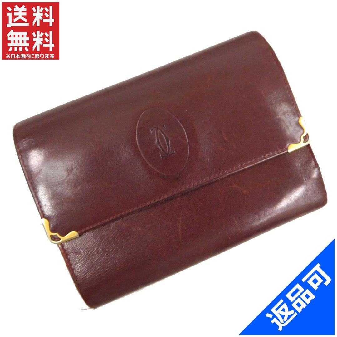 [閉店セール]カルティエ Cartier 財布 二つ折り財布 三つ折り財布 マストライン 中古 X11996