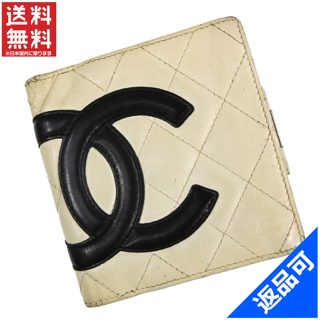 1cefae03c281 CHANEL Chanel purse Cambon line 9-table two folding the wallet Coco make  money pouch ...