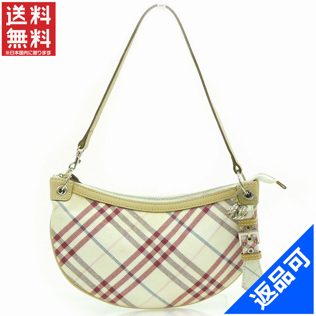 712be458c6ae3b BURBERRY Burberry bag Blue label bag check pattern handbag stock X12225 ...