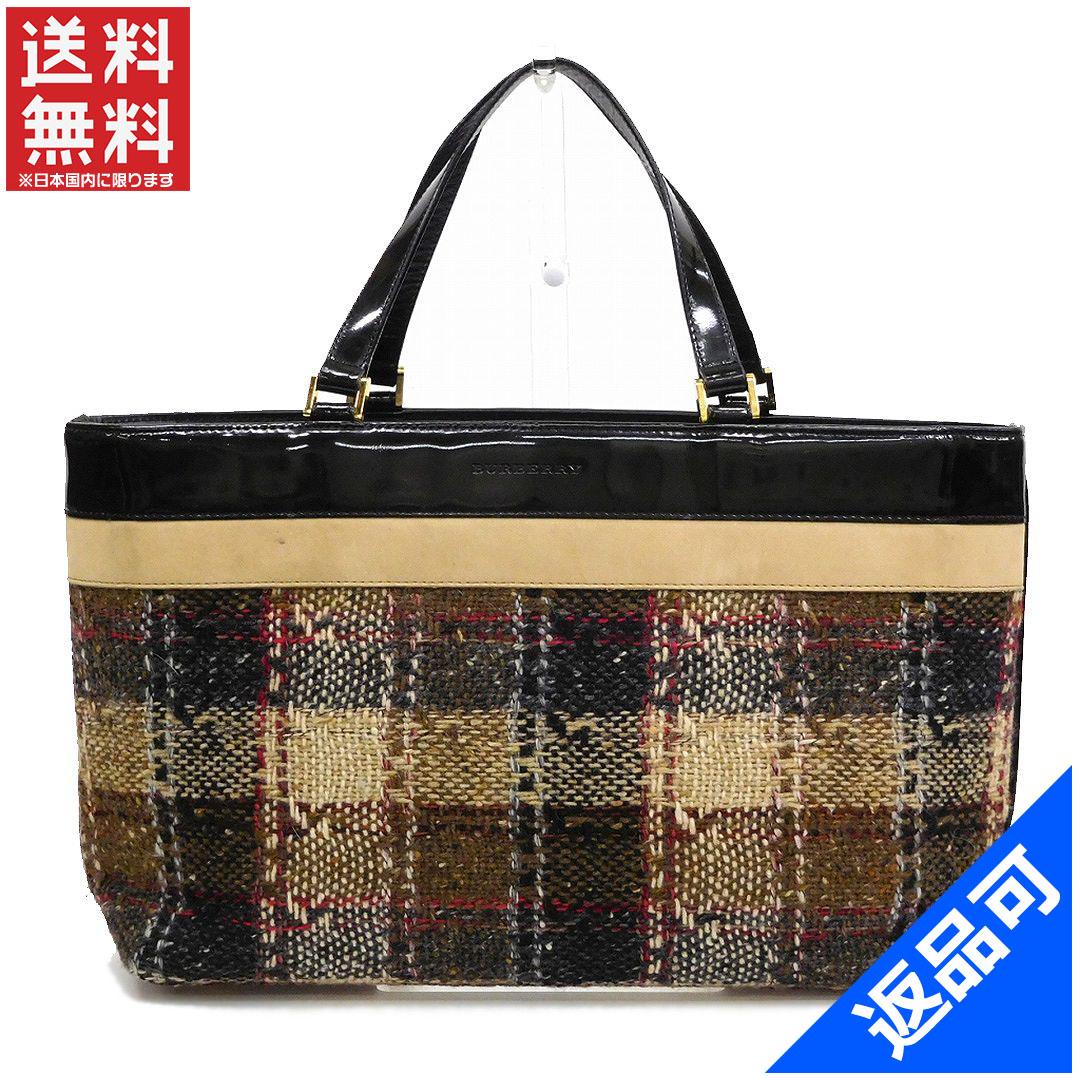 5d8c1f61d3b Designer Goods BRANDS: BURBERRY Burberry bag enamel and combi Tweed ...