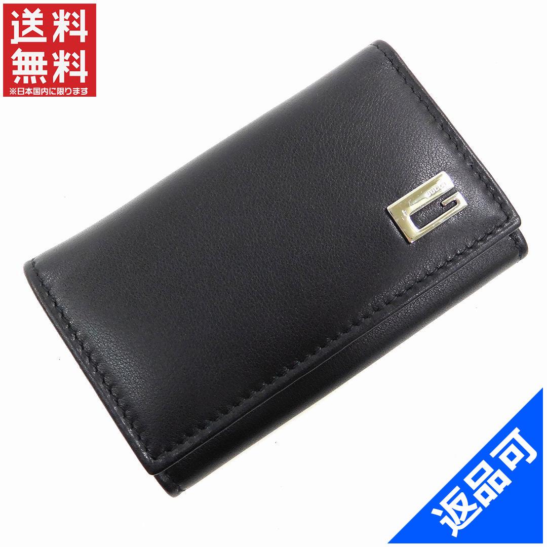 e4fb89f80666 GUCCI Gucci S metal key holder 6-key case men-friendly delivery (less used)  X13199