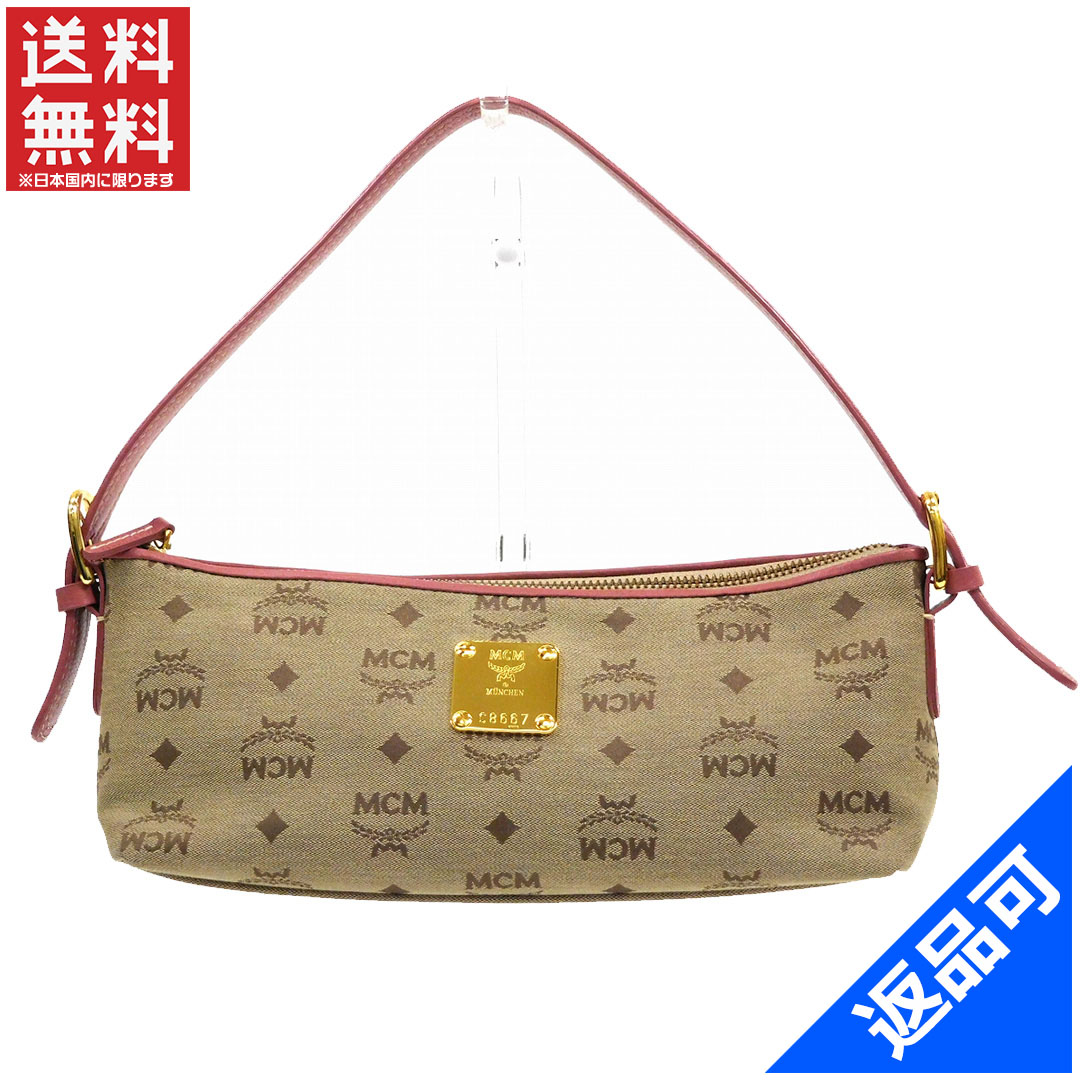 MCM M CM bag shoulder bag MCM pattern handbag beauty product immediate delivery like-new X13834