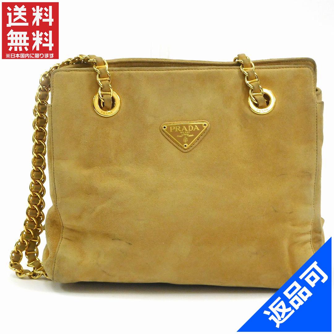 e0e52bb0 PRADA Prada bag gold metal fittings shoulder bag logo plate immediate  delivery X14258