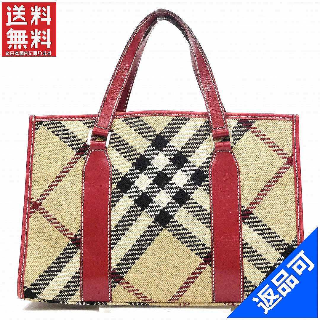 ef91aca63c7cee BURBERRY Burberry bag blue label tote bag checked pattern popularity  immediate delivery X14325 ...