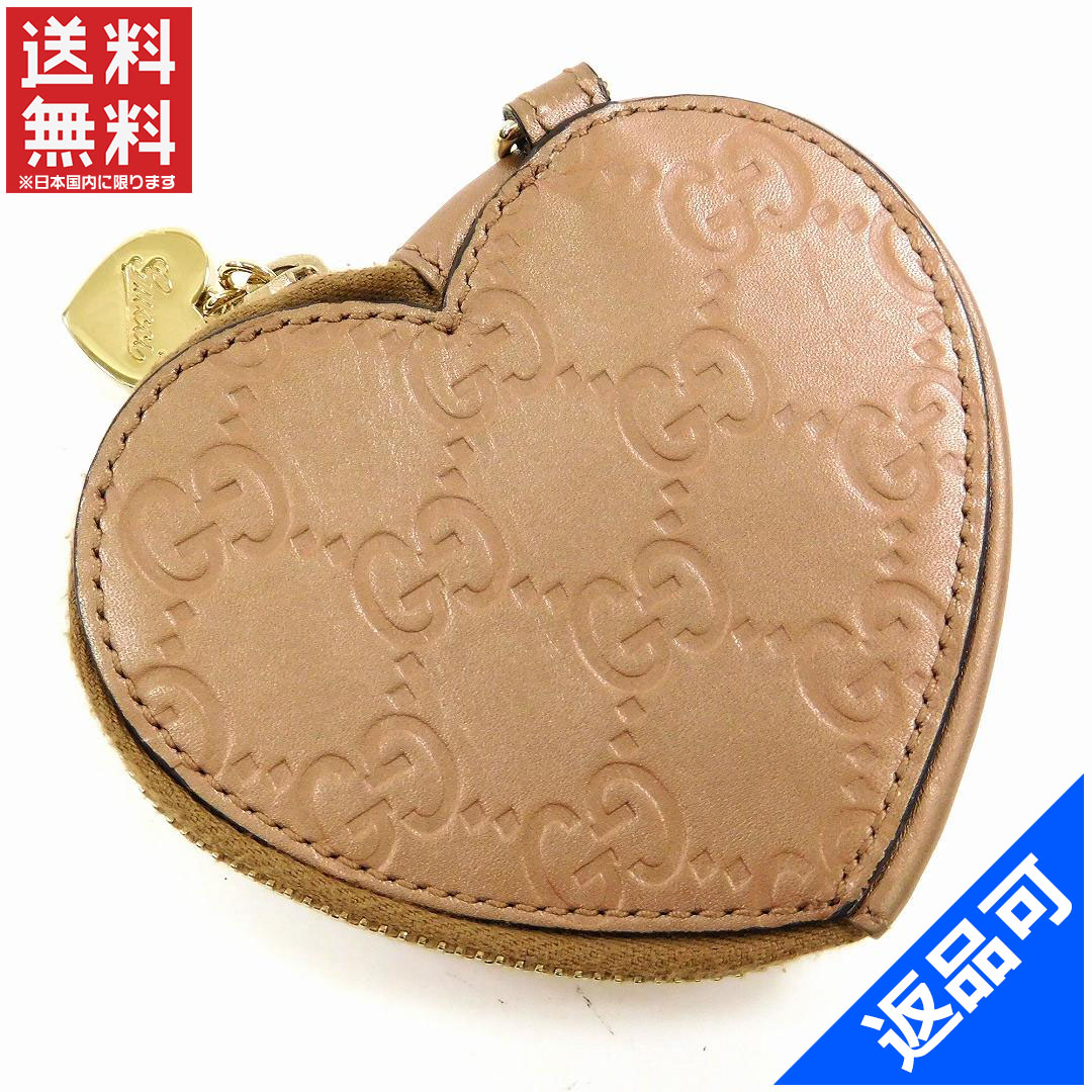 グッチ 財布 レディース コインケース GUCCI 152615 0416 ハート型 グッチシマ 即納 【中古】 X14343