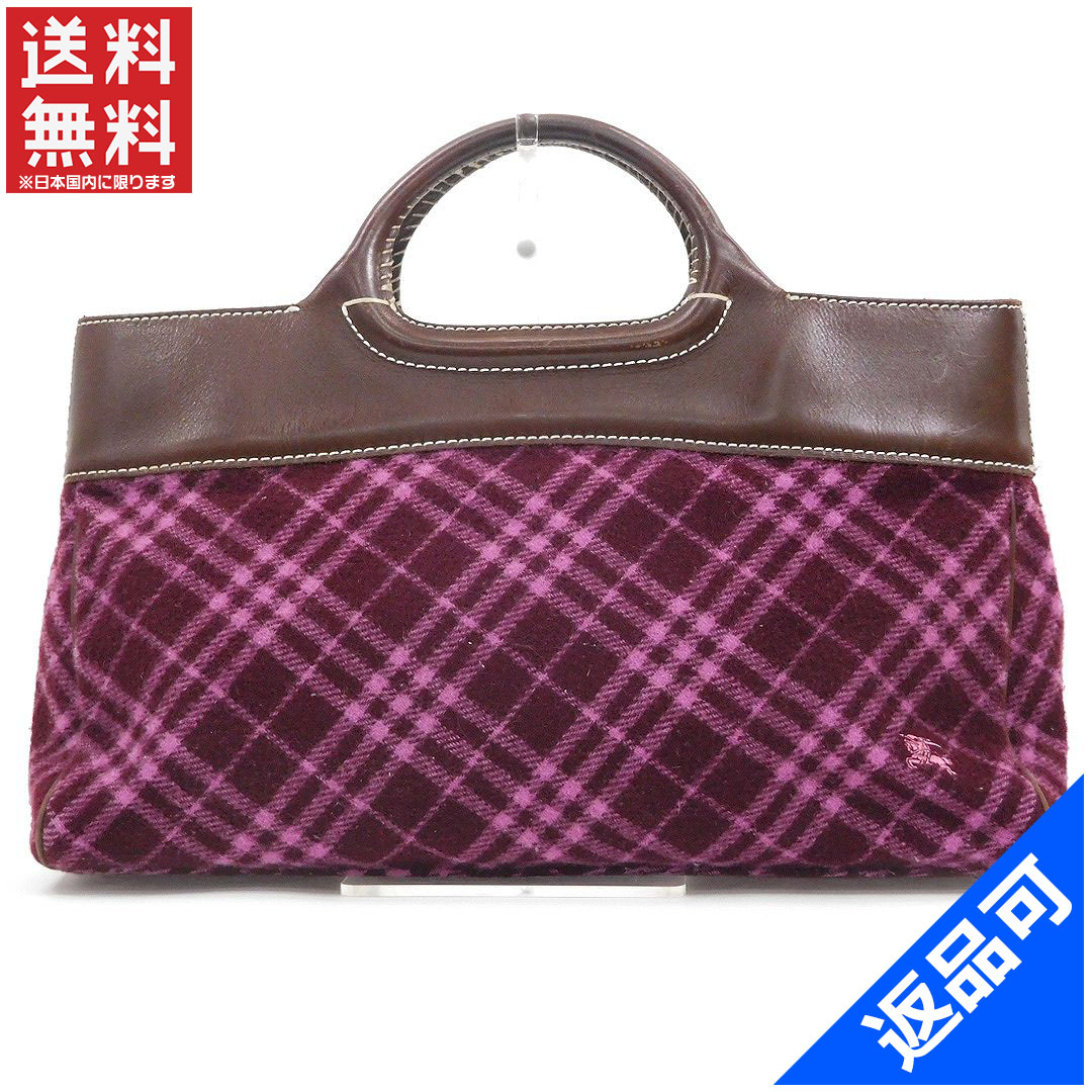bab130dcb2424d BURBERRY Burberry bag blue label tote bag check immediate delivery X14600  ...