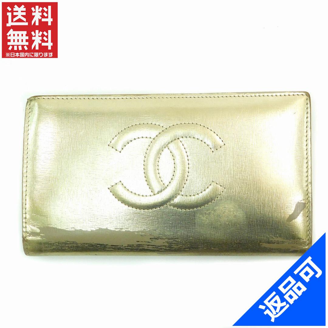 [半額セール]シャネル CHANEL 財布 長財布 12番台 ココマーク 中古 X14606