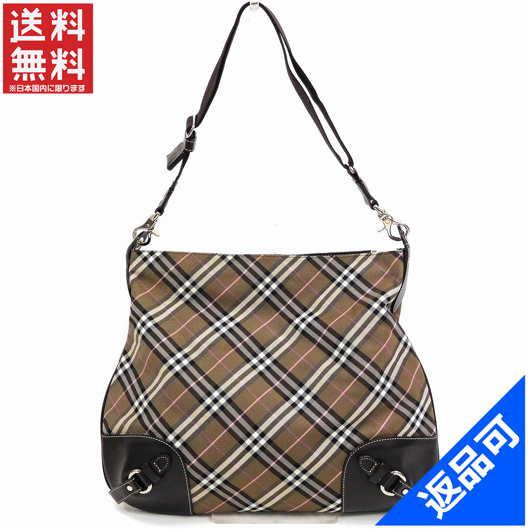 88aaae2acc89a1 BURBERRY Burberry bag blue label shoulder bag check immediate delivery  X14804 ...