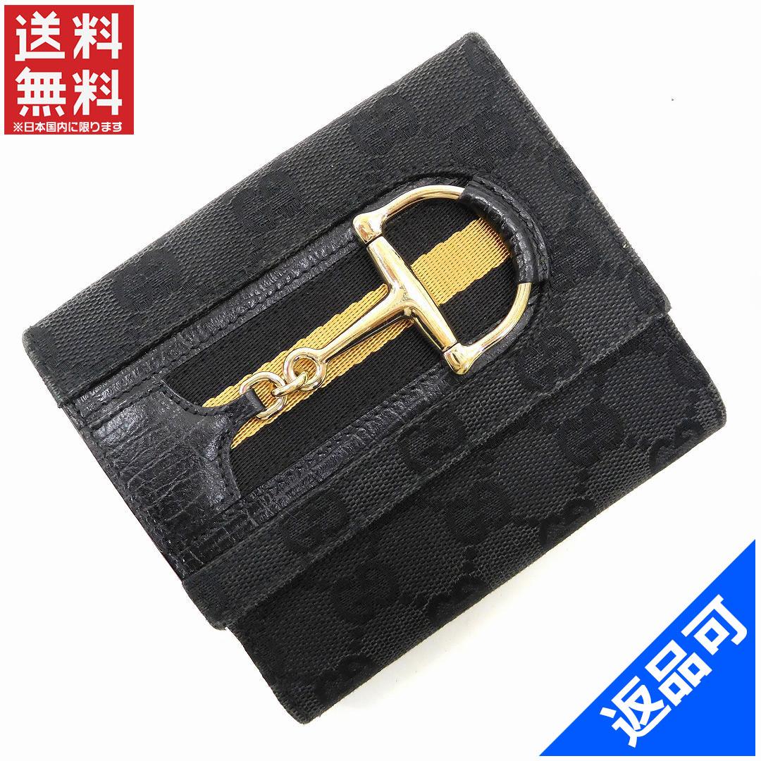 f4b8040bb8e1 グッチ 財布 レディース (メンズ可) 二つ折り財布 GUCCI GGキャンバス Wホック財布