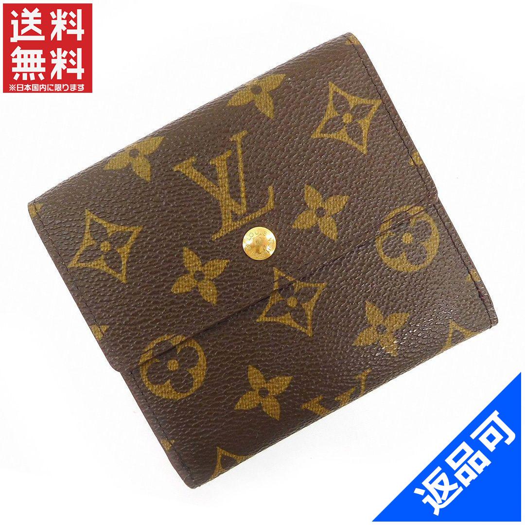 [半額セール]ルイヴィトン LOUIS VUITTON 財布 二つ折り財布 Wホック財布 M61652 ポルトモネビエカルトクレディ モノグラム 中古 X15606