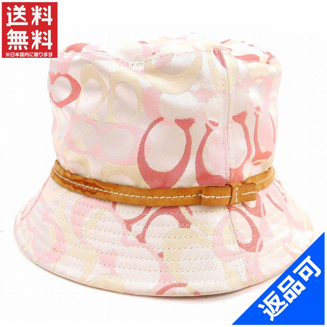 コーチ レディース 帽子 COACH シグネチャー ハット 即納 【中古】 X15850