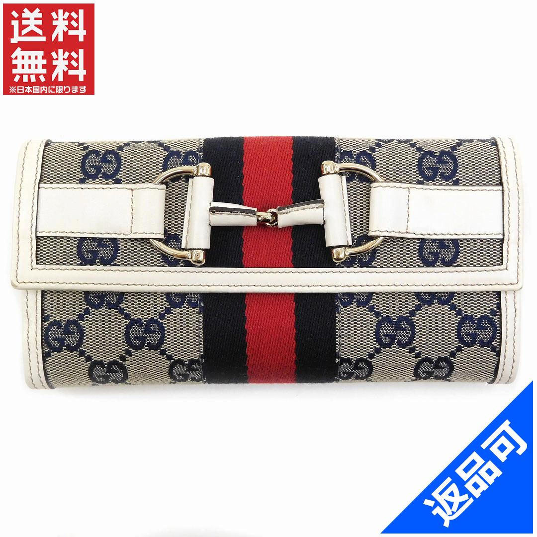 e86b68c09833 Gucci wallet Lady's (men's possible) long wallet GUCCI GG canvas man and  woman combined ...