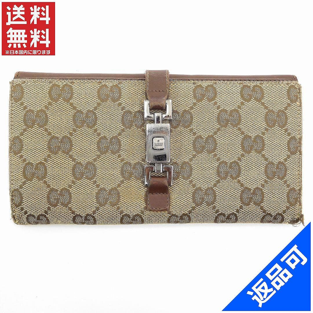 b9a24f241ee Gucci wallet Lady s (men s possible) long wallet GUCCI GG canvas man and  woman combined use immediate delivery X15889