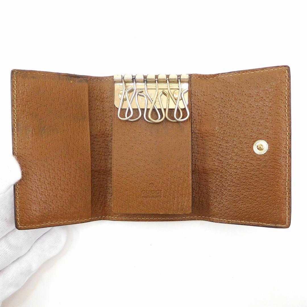f0141f117e2bb Gucci Lady s (men s possible) key case GUCCI GG canvas six key case  immediate delivery X16048