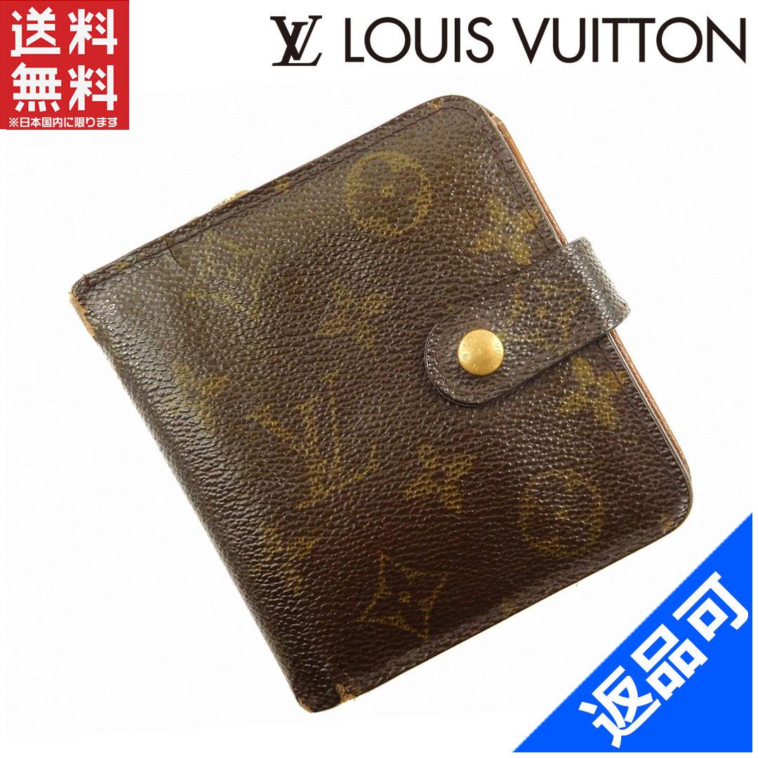 [閉店セール]ルイヴィトン LOUIS VUITTON 財布 二つ折り財布 ラウンドファスナー M61667 コンパクトジップ モノグラム 中古 X16244