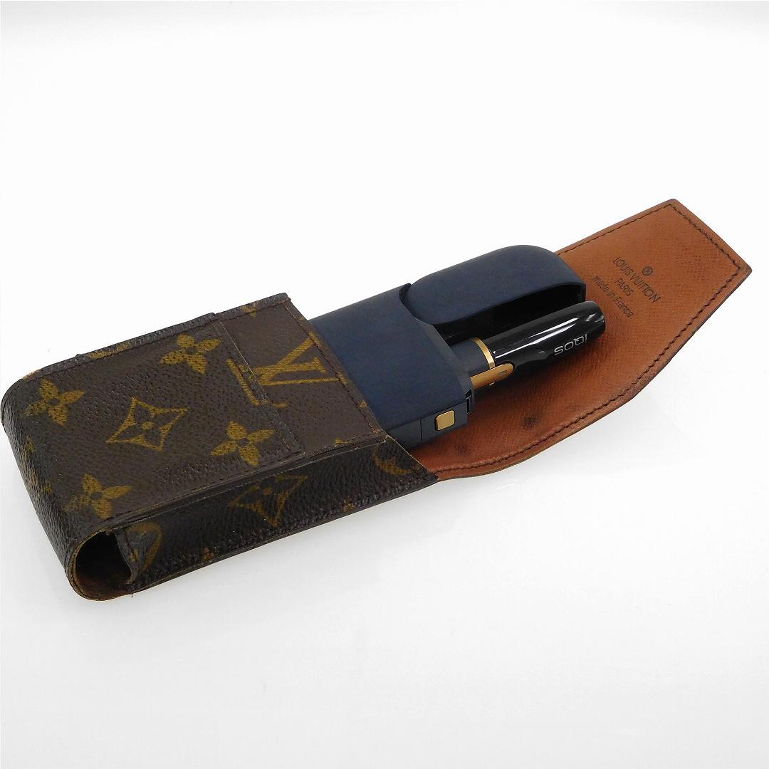 ce9ea6b0c7 [half price sale] Louis Vuitton LOUIS VUITTON cigarette case Aiko's case  M63024 エテュイシガレットモノグラム used X17265