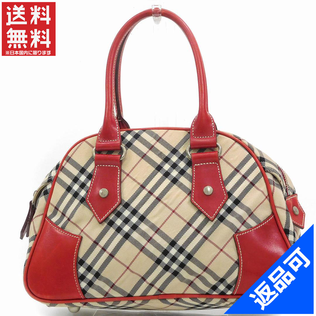 e01708c1a09ce8 It is Burberry bag lady (men's possible) handbag BURBERRY blue label  Novacek immediate delivery ...