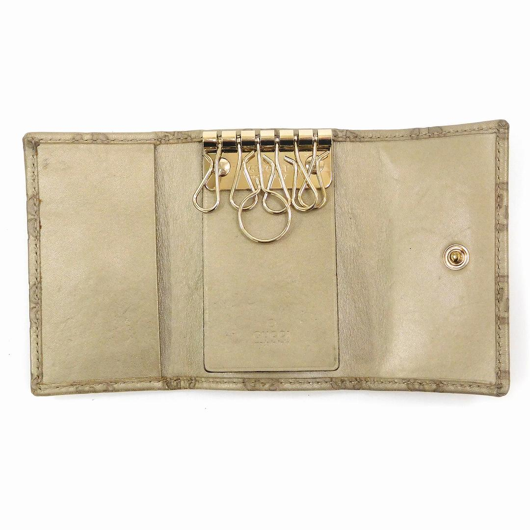 d5c30db717350 Gucci Lady s (men s possible) key case GUCCI gold metal fittings Gucci sima six  key case immediate delivery X17351