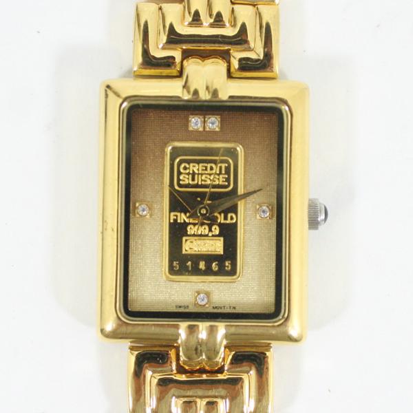ELGIN エルジン インゴッド ゴールドバー K24 時計 ウォッチ FK-581-TN【中古】