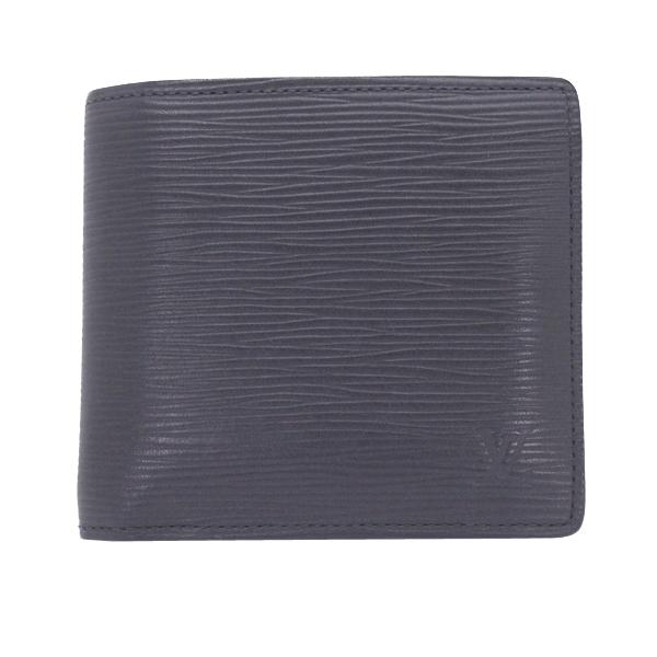 美品 LOUIS VUITTON ルイヴィトン エピ 黒 ポルトフォイユ・マルコ メンズ二つ折り財布 ノワール M60612【中古】