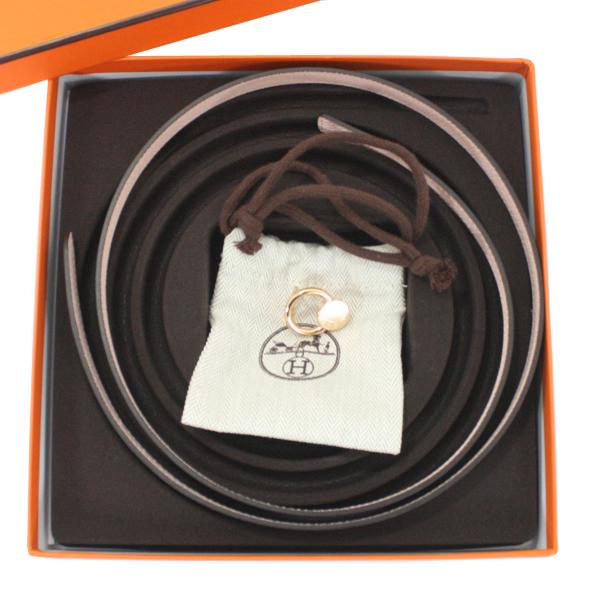 新品未使用 HERMES エルメス セリエ ミニ13 リバーシブルベルト 90cm ブラック黒xローズエグランタイン スイフトxエプソン ピンクゴールド金具