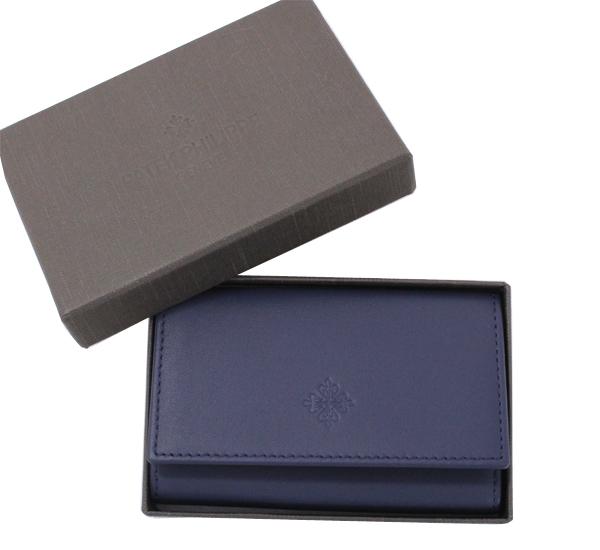 未使用 PATEK PHILIPPE パテック フィリップ ノベルティ 6連キーケース 紺 レザー
