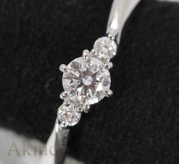 4℃ リング ダイヤモンド 0.200ct D-VS1-EX(H&C) プラチナ PT950 14号 #14 エンゲージリング 婚約指輪【中古】