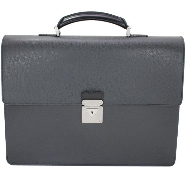 展示未使用 LOUIS VUITTON ルイヴィトン ロブスト1 タイガ 黒 ブラック アルドワーズ 書類バッグ ビジネスバッグ メンズ M31052【中古】