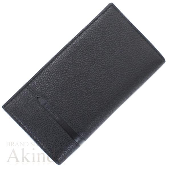 ブルガリ 二つ折り長財布 オクト 黒 ブラック メンズ レザー 未使用 32582 BVLGARI【中古】