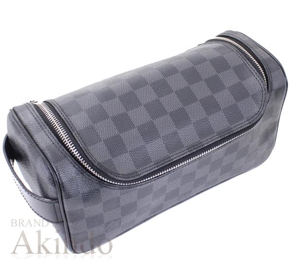 ルイヴィトン セカンドバッグ トワレポーチ グラフィット 黒 ブラック メンズ N47625 【中古】