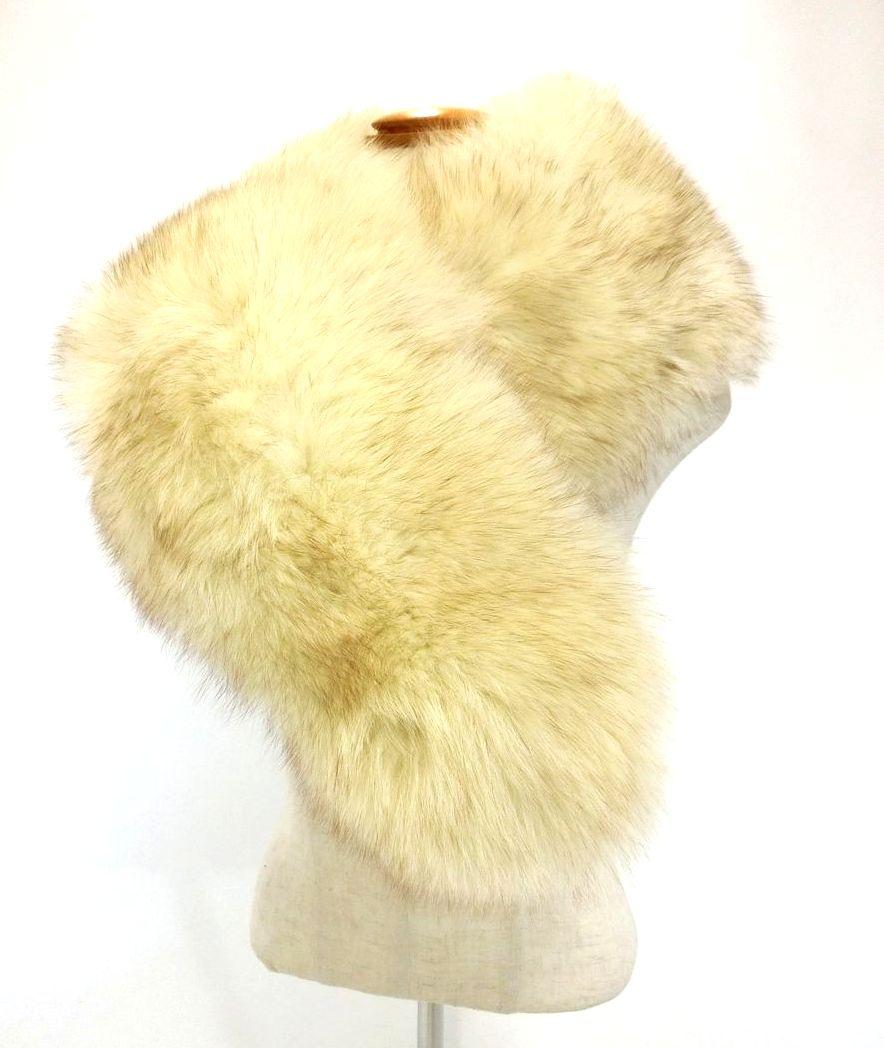 SAGA FOX・サガフォックス FUR/フォックスファー襟巻 北欧品質 高級品 おしゃれ 成人式・フォーマル・着物 レディース服飾 ブランド 未使用品 19-2053