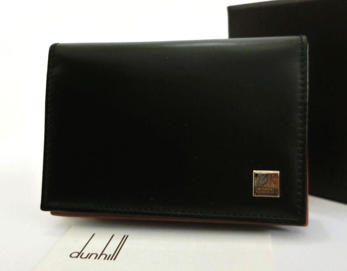 dunhill・ダンヒル 本革レザー 名刺入れ/ビジネスカードケース 黒 ブラック 高級感 メンズ小物 ブランド 未使用品 送料無料 20-6019