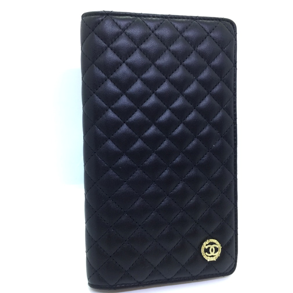 5bad907e54ac It is Takeru Chanel wallet A47501 leather black pink matelasse Lady's  CHANELK80326014 an urgent reduction in price
