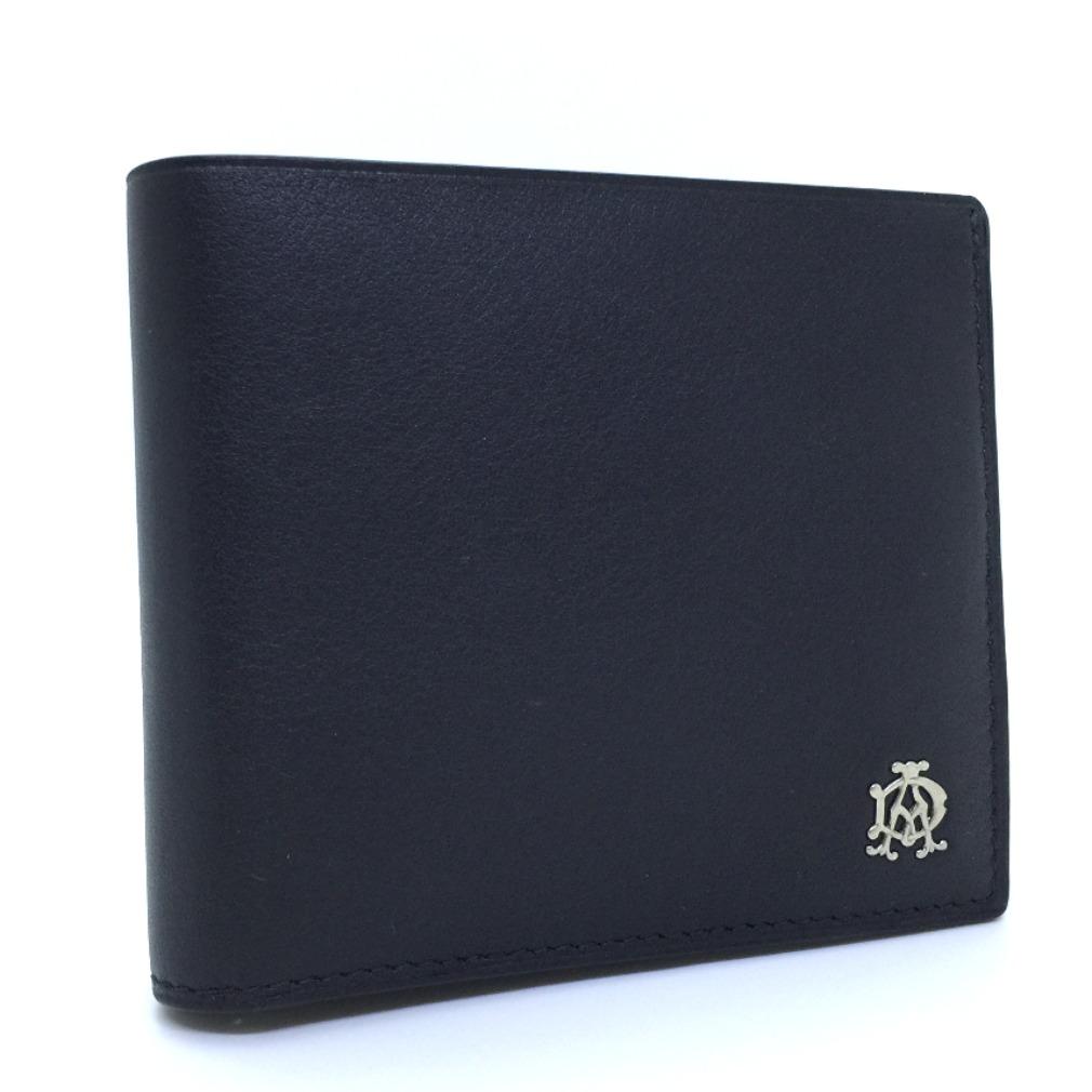 ダンヒル 二つ折り財布 LZXR32A レザー ブラック メンズ Dunhill【中古】K80326018 【PD1】