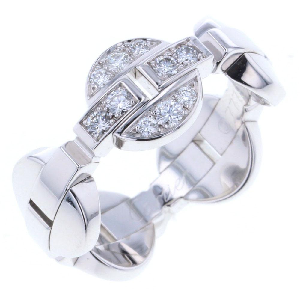 カルティエ イマリア ダイヤリング 指輪 K18ホワイトゴールド レディース CARTIER【中古】K80113985 【PD2】