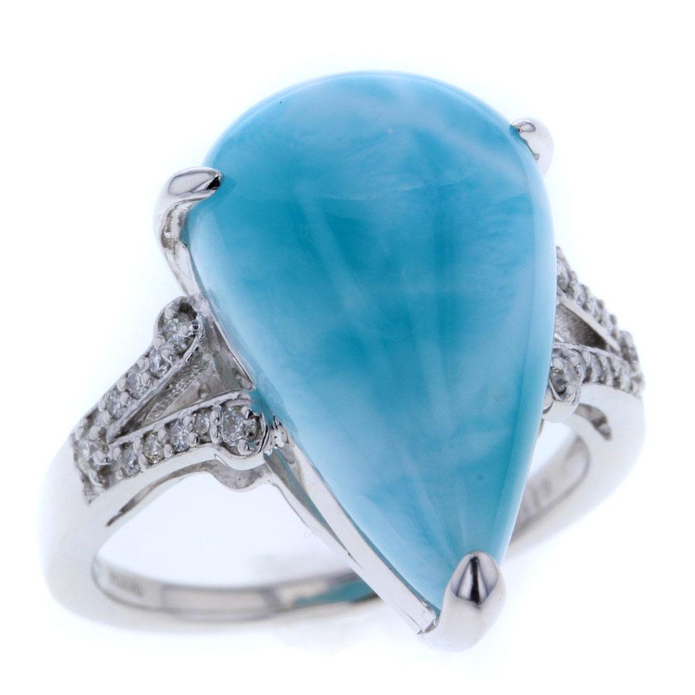デザイン リング 指輪 17.5号 ペクトライト13.18ct ダイヤモンド 0.19ct プラチナ PT900 レディース【中古】R80115002 【PD3】