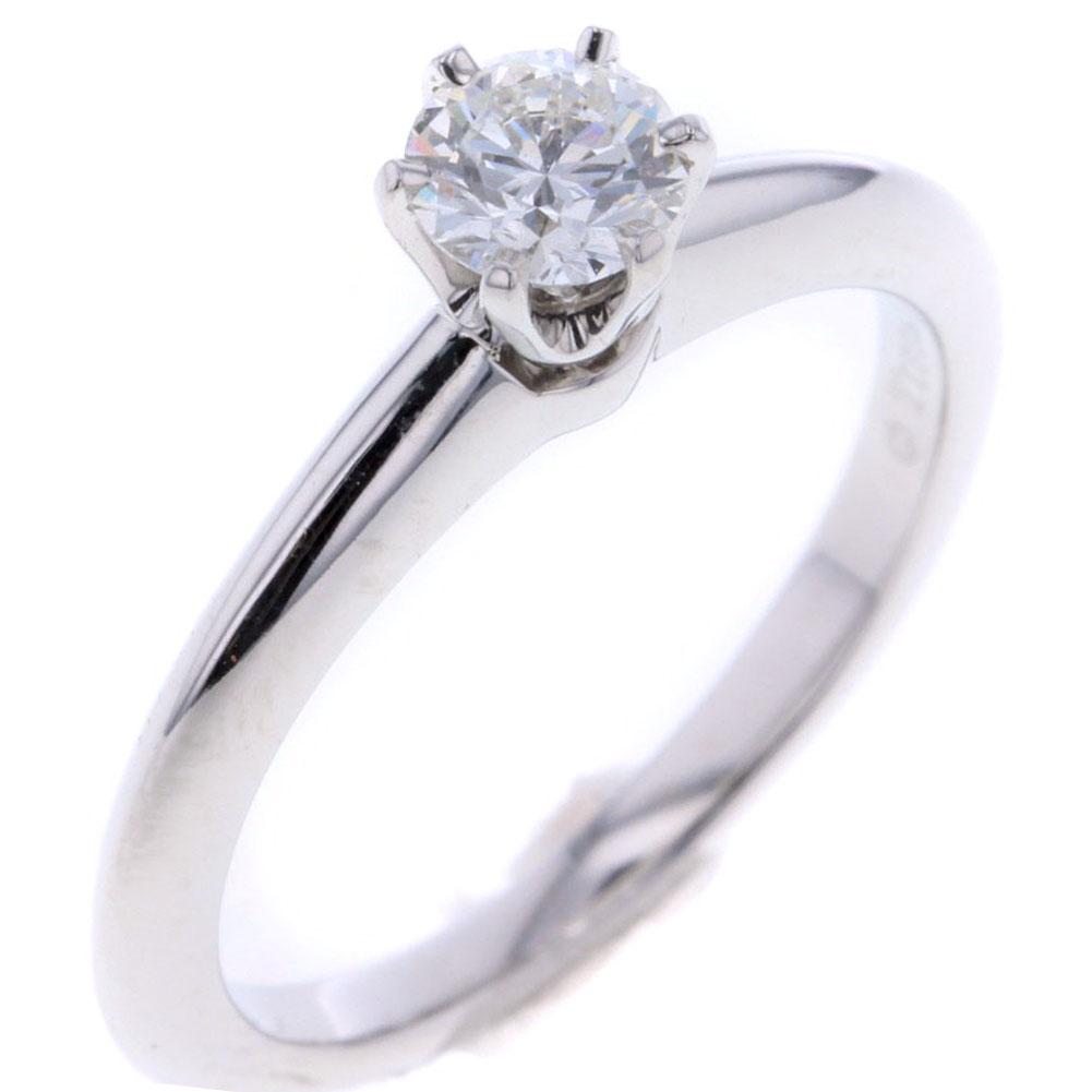 ティファニー リング 指輪 8号 プラチナPT950 ダイヤモンド 0.31ct レディース TIFFANY&Co. 【中古】R80409028 【PD3】